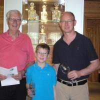 Hans-Wolfgang Ehrhardt mit Nico Liebschner und Bent Thore Meyer