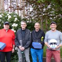 After Work Sieger. Roman Plumhoff, Micahel Rode, Dr. Thorsten Gesing und Hinrich Vagts.